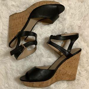 NWOB Cato Colorblock Cork Wedges - Black Size 10